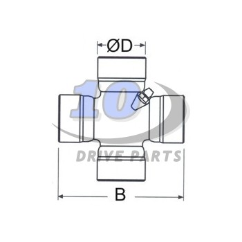 U.JOINT Ø 34,90 x 106,30 mm DANA SPICER 1480, SPL55 SERIES. SIDE LUBE, REF: SPL55-1X
