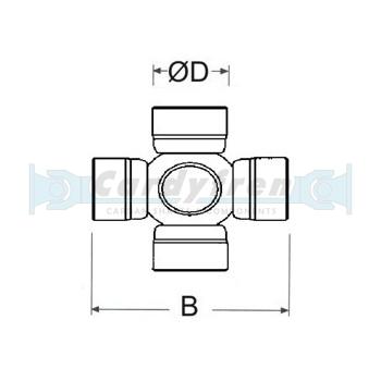 CROISILLON 30,2x82 DANA SPICER 687.20 (2020) SERIES GRAISSAGE CENTRALISÉ