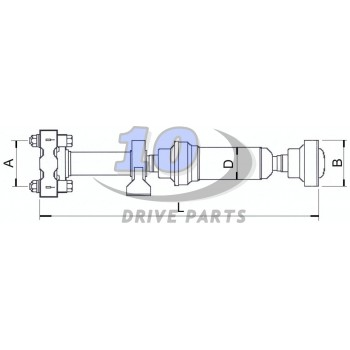 CARDAN, DRIVESHAFT VW VOLKSWAGEN TOUAREG. L 1246,4mm. PART NUMBER 7L6521102G 7L0521102B/D/G