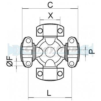 CRUZ 42,9X114,30 mm E/L DANA SPICER MECHANICS
