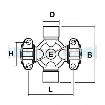 MIXED U-JOINT 25.4x55/33.34x60.32 S.2CRL 2BP MECHANICS
