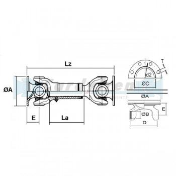 EXTRA SHORT DRIVE SHAFT ELBE 0.107 270mm