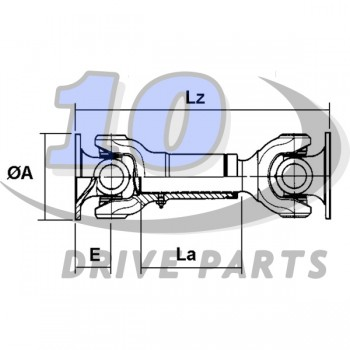 CARDAN DRIVESHAFT ELBE 0.106 236 mm