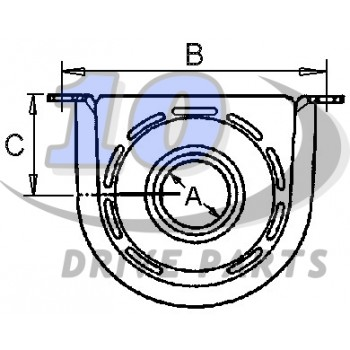 ORIGINAL CENTER BEARING FOR DRIVESHAFT IVECO DAILY REF: 42535254 / 42561251 / 93158202.
