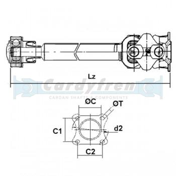 TRANSMISSION A CARDAN MERCEDES ML 1634100201 696 mm