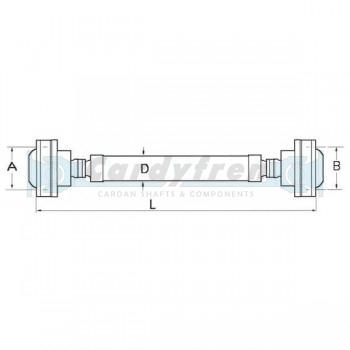 CV DRIVESHAFT MERCEDES BENZ M CLASS 620mm CV 95/6-10