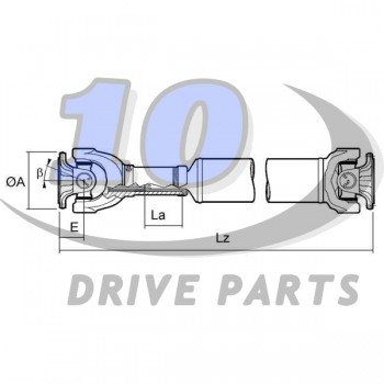 DRIVESHAFT LAND ROVER FRC8386