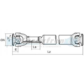 TRANSMISION CARDAN RANGE ROVER 750 mm DELANTERA FTC4140
