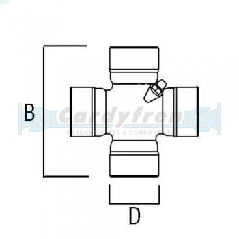 CRUCETA 23,8x61,2 E/L STANDARD 1100