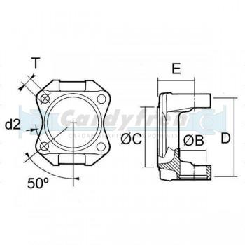 PLATO SPICER S.1410 SAE 106x4x12 1 C 69.9 E 42 9 d2 95 27