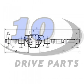 DOUBLE JOINTED DRIVESHAFT MANITOU 940403