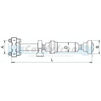 CARDAN, DRIVESHAFT VW VOLKSWAGEN TOUAREG. L 1246,4mm. PART NUMBER 7L6521102G 7L0521102B/D/G