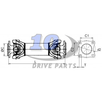 TRANSMISION CARDAN BMW X-3 E83 DELANTERA REF 26203401609