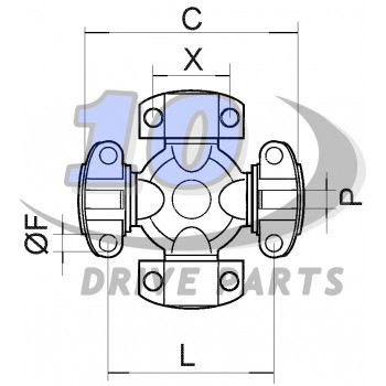 CRUZ 71,40X168,40 mm E/L DANA SPICER MECHANICS