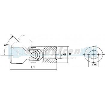NUDO SIMPLE V DIN7551 SERIE 102 TIPO 52 mm