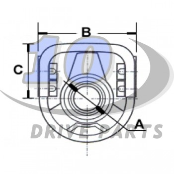 CENTER SUPPORT BEARING MERCEDES BENZ ACTROS
