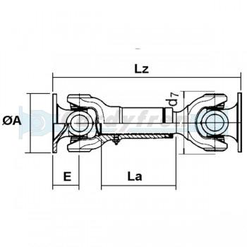 DRIVE SHAFT ELBE 0.113 450 mm